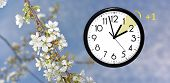 Daylight Saving Time. Change Clock To Summer Time. poster