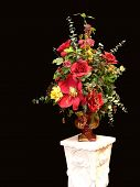 picture of flower-arrangement  - Colorful silk - JPG