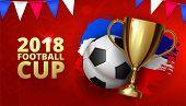 Beautiful Design Template Mock Up Football 2018 World Championship Tournament Soccer League. Soccer  poster
