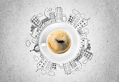 Cup Coffee Hot Hot Coffee Coffee Break Color Break poster