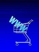 Domain Address/internet Buy. Blue Lined Background