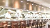 Blur Background Of Sushi Restaurant In Tokyo Japan poster