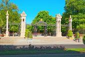 Main Gate In Buen Retiro Park (parque De El Retiro)- Most  Large poster