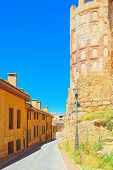 Landscape At The Ancient City Segovia, San Andres Gate, Located poster