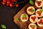 Mini Tarts With Cherry Tomatoes poster