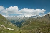 stock photo of engadine  - Alpine landscape in the valley of Engadine - JPG