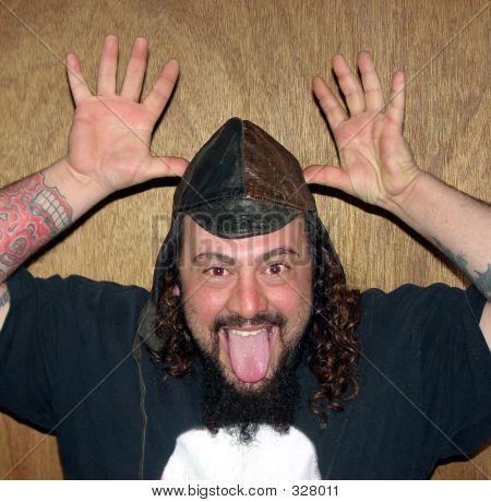 Crazy Man W Hat