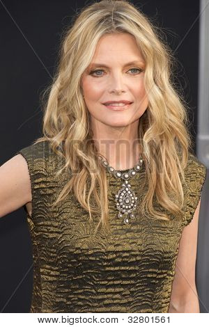 HOLLYWOOD, CA - MAY 7: Actress Michelle Pfeiffer arrives at the premiere of the Warner Bros. Pictures' Dark Shadows on May 7, 2012 in Hollywood, California.