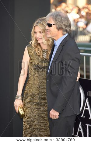HOLLYWOOD, CA - MAY 7: Actress Michelle Pfeiffer and David E. Kelley arrive at the premiere of the Warner Bros. Pictures' Dark Shadows on May 7, 2012 in Hollywood, California.