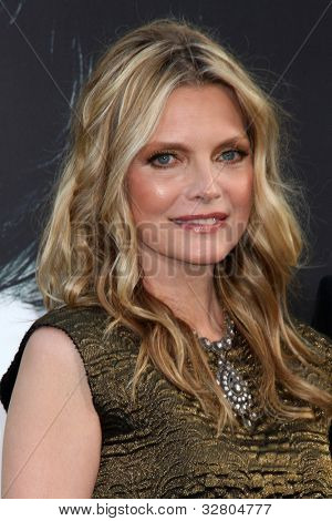 "LOS ANGELES - MAY 7:  Michelle Pfeiffer arrives at the ""Dark Shadows"" - Los Angeles Premiere at Graumans Chinese Theater on May 7, 2012 in Los Angeles, CA"