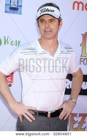 LOS ANGELES - MAY 7:  C. Thomas Howell arrives at the 5th Annual George Lopez Celebrity Golf Classic at Lakeside Golf Club on May 7, 2012 in Toluca Lake, CA