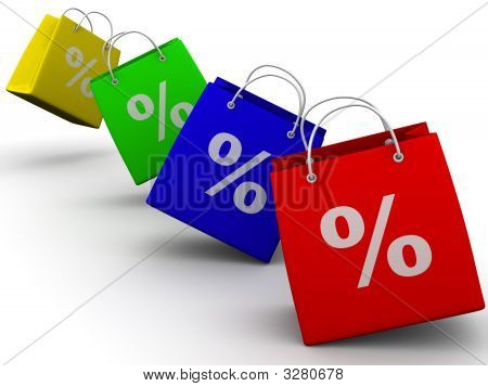 Shopping Bags With Percent