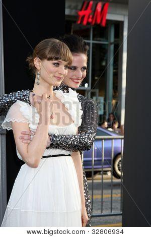 LOS ANGELES - MAY 7:  Bella Heathcote, Eva Green arrives at the