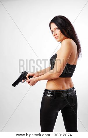 Woman With A Handgun.