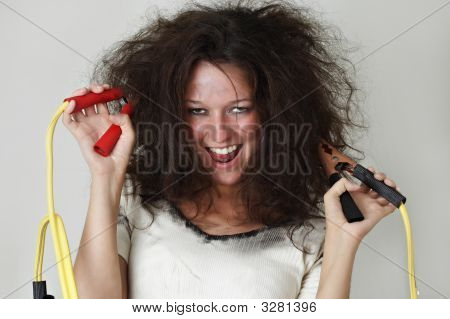 Girl With Booster Cable