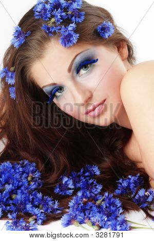 Girl In Cornflowers
