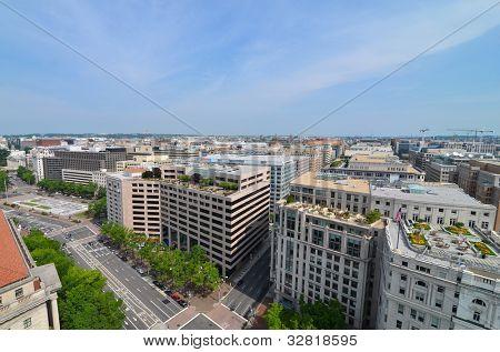Washington DC, aerial view of Pennsylvania Avenue