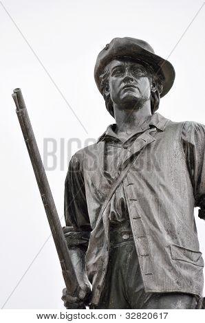 Estátua de homem hora