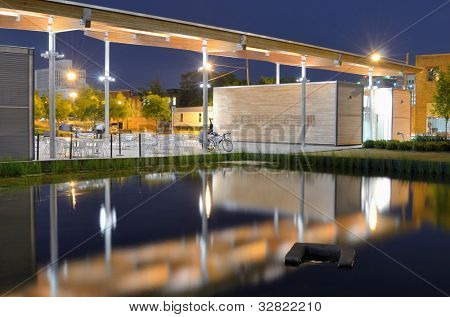 Pavilion at Railroad Park in Birmingham, Alabama, USA