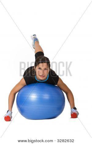 Menina exercitando