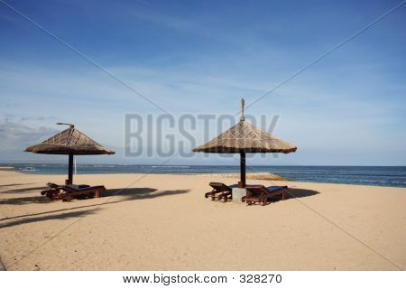 Gazebo At Beautiful Beach