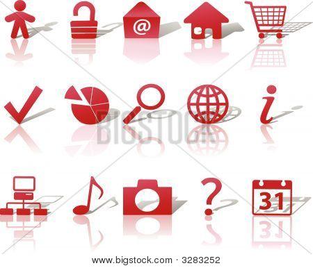 Red Icon Symbol Set