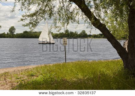 Sailboat On Creve Couer Lake