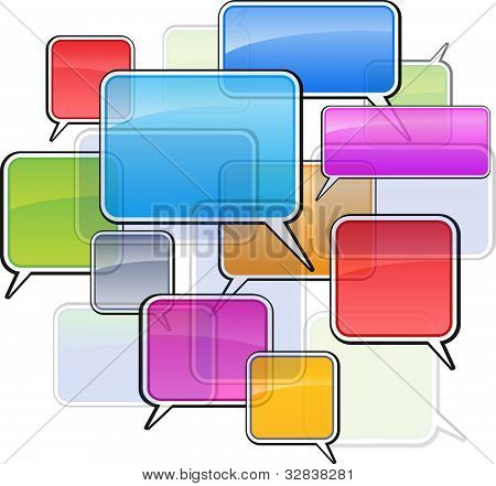 Colorful icons sms