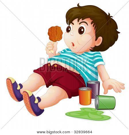 Illustration of a full fat kid