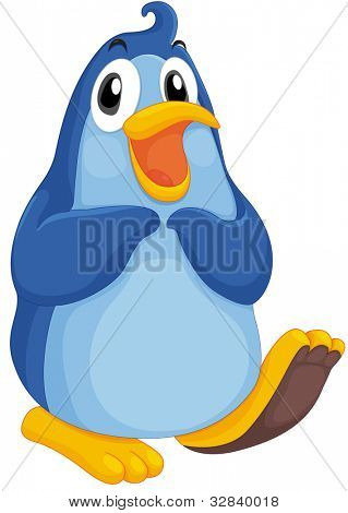 Illustration of a cool penguin on white - EPS VECTOR format also available in my portfolio.