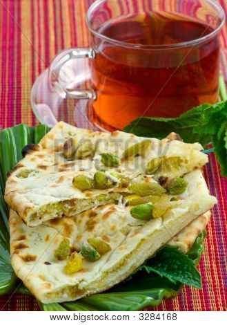 Tasty Peshwari Naan. Indian Flatbread.