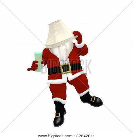 Santa Dancing With Lampshade