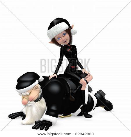 Santa In Black - Bondage
