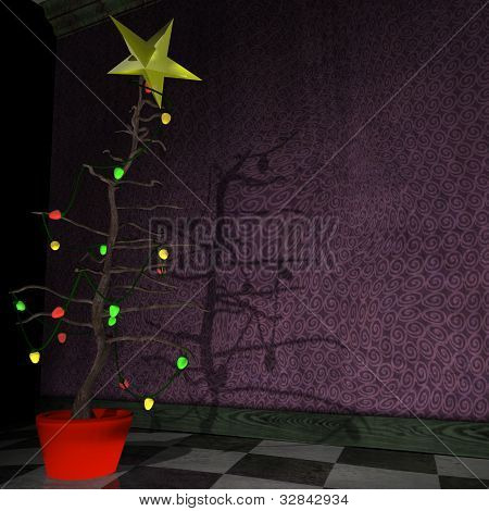 Stick Style Christmas Tree