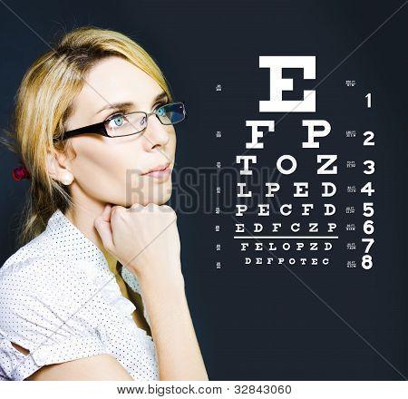 Optician Or Optometrist Wearing Eye Wear Glasses