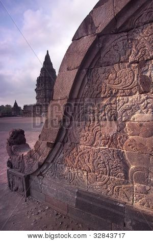 Prambanan Balustrade Bas-relief, Central Java, Indonesia