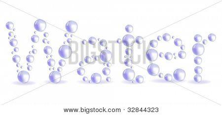 Abbildung mit Wasser Wort aus Licht fällt