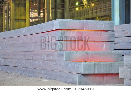hot steel stack