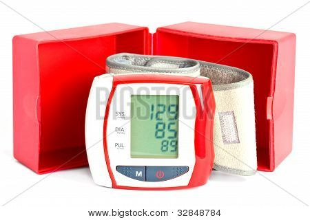 Blood Pressure Meter With A Box