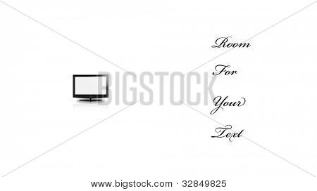 Concetual Minimal Flat Panel In Large White Space