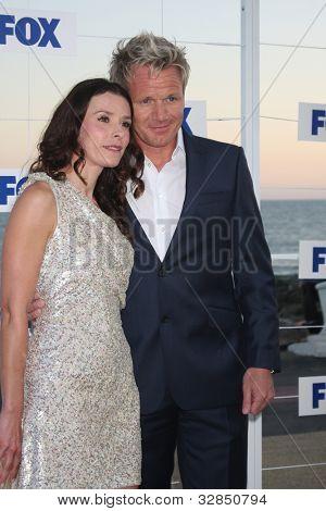 LOS ANGELES - 5 de AUG: Gordon Ramsey, arribando a la fiesta de FOX TCA verano 2011 en Gladstones Augus