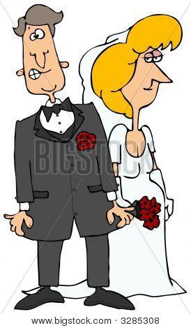 Nervous Groom & His Bride