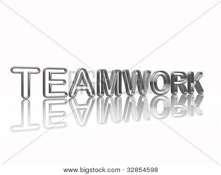 Teamwork Sliver Letters