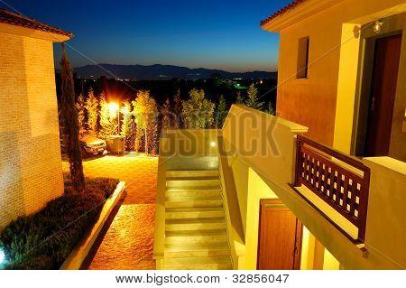 Sunset And The Luxury Villas, Pieria, Greece