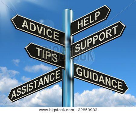 Beratung Hilfe Unterstützung und Tipps Wegweiser anzeigen Information und Beratung