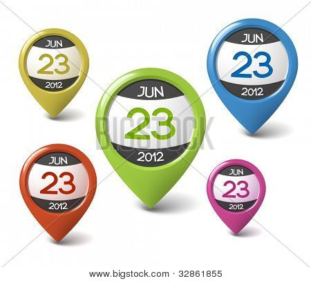 Vector date icon for your web or blog