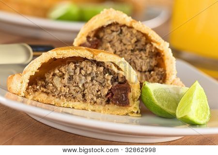 Peruvian Snack called Empanada (Pie)