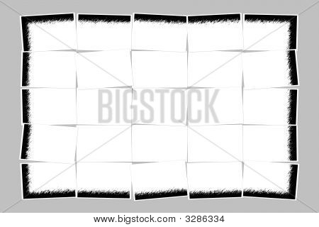 Cutted Piece Of Notice Paper With Black Frame Isolated