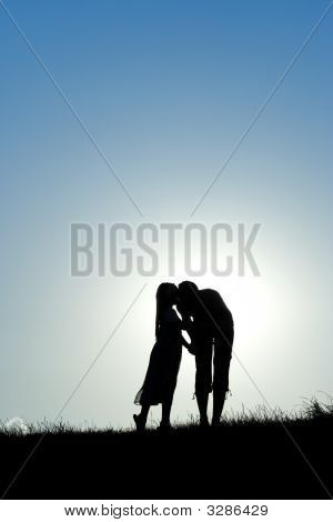 Mother And Girl Silhouette
