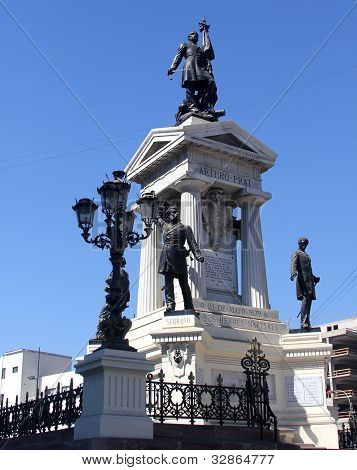 Heroes of Iquique monument and crypt in Valparaíso, Chile.